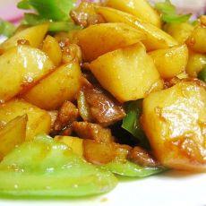 肉粒酱烧土豆块的做法