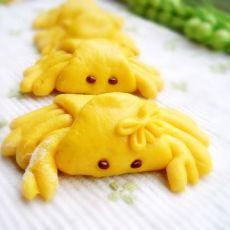 可爱的螃蟹馒头
