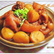 锅焖酥手的做法