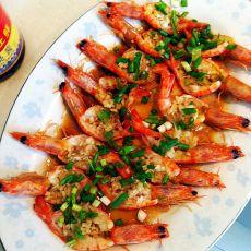 蒜蓉葱油开片虾