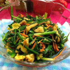 韭菜滑鸡肉的做法