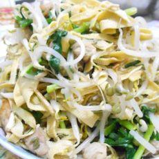 韭菜炒豆芽干豆腐的做法