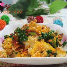 剁椒菠菜炒鸡蛋