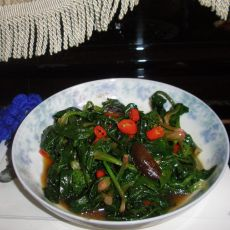 花香茹炒菠菜