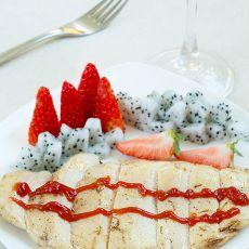 烤鸡肉水果沙拉