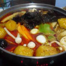 清油红汤火锅的做法