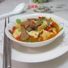 猪肝烧豆腐的做法