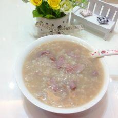 粉肠猪肝粥的做法