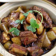 土豆排骨炖粉条儿的做法