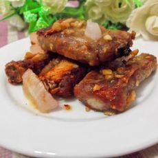 腐乳蒜香排骨—微波炉版的做法