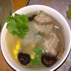 茶树菇冬瓜排骨汤的做法