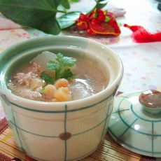 肉末元贝冬瓜汤的做法