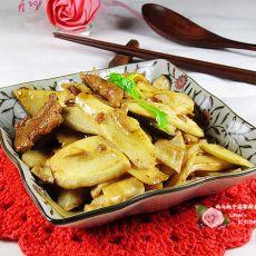 肉片杏鲍菇炒山药的做法