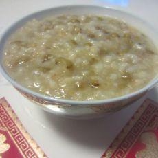 绿豆麦片粥的做法