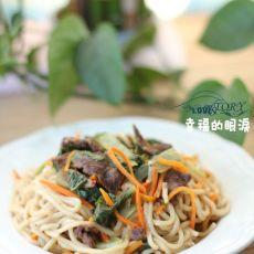 电饭锅做出美味简单的沙茶牛肉焖面的做法