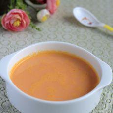 胡萝卜汁牛奶羮