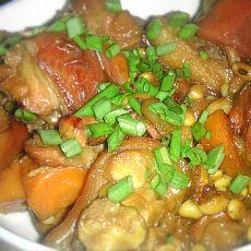 红烧猪蹄胡萝卜的做法