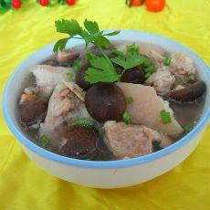 香菇猪蹄汤的做法