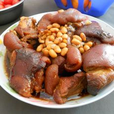 黄豆炖猪蹄的做法