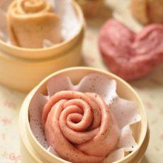火龙果玫瑰馒头的做法