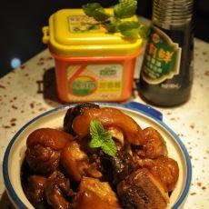 甜面酱香菇猪蹄的做法