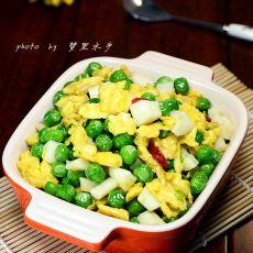 山药豌豆炒鸡蛋