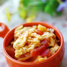 西红柿葱花炒蛋
