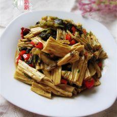 酸菜炒腐竹的做法