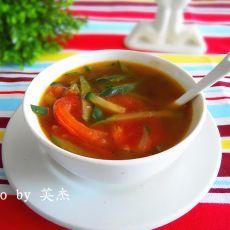 西红柿黄瓜汤的做法