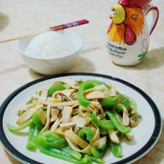 豆干炒青椒的做法