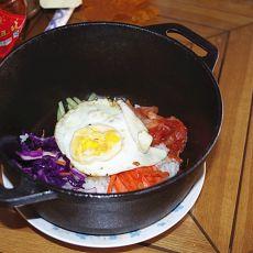 简易石锅拌饭的做法