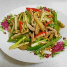 青椒榨菜炒肉丝的做法