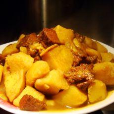 咖喱牛肉炖土豆的做法