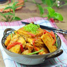 黄豆酱烧虾仁豆腐