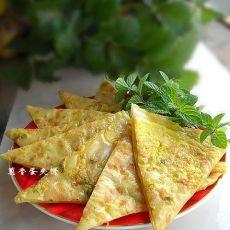 营养早餐之葱香蛋夹饼的做法