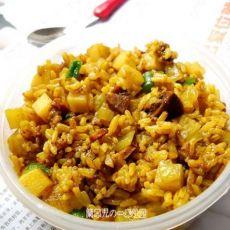 咖喱牛肉土豆焖饭的做法