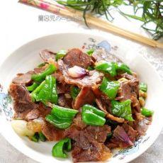 家常青椒回锅牛肉的做法