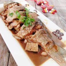 花生冻豆腐炖鱼