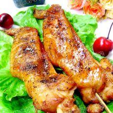 黑胡椒串烤鸡翅