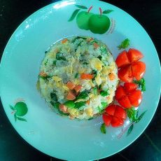 火腿蛋炒饭的做法