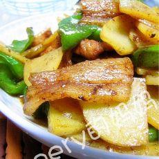 青椒土豆炒肉片的做法