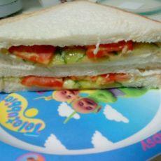 diy低卡营养早餐三明治的做法
