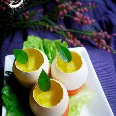 橙香鸡蛋羹的做法