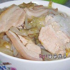 酸菜粉丝白肉的做法