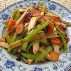 青椒豆腐干的做法