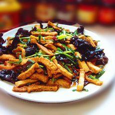 木耳辣炒千叶豆腐的做法