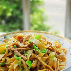 青椒豆皮炒肉丝的做法