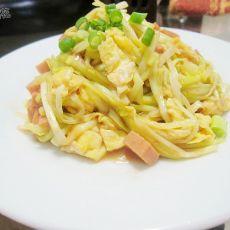 午餐肉鸡蛋炒韭黄