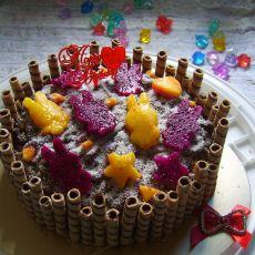 巧克力慕斯棋盘格蛋糕
