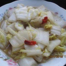 辣炒大白菜的做法